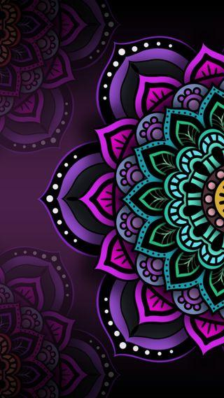Обои на телефон мандала, черные, фиолетовые, крутые, индия, зеленые, purples