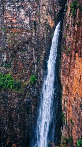 Обои на телефон рокки, водопад, природа, пейзаж, горы, вода, величественные, rocky mountain, majestic waterfall