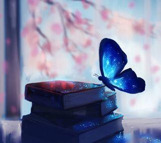 Обои на телефон магия, книги, бабочки, арт, art