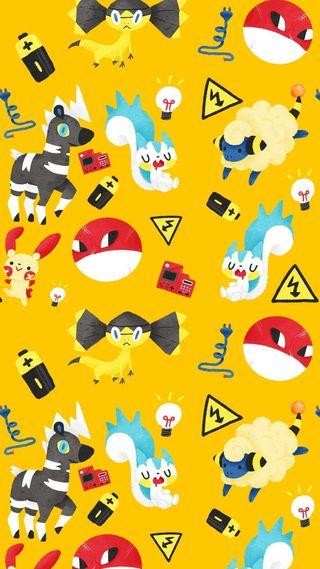 Обои на телефон электрические, покемоны, батарея, pokemon electric ph
