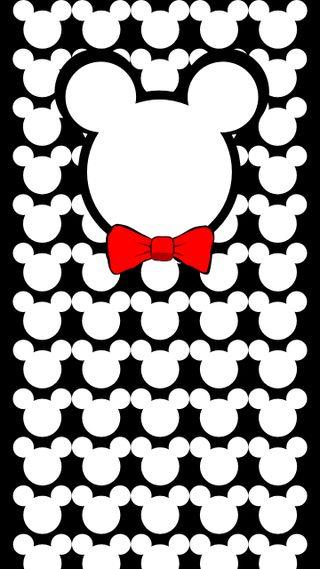 Обои на телефон лук, шаблон, черные, микки, маус, красые, белые, white and red, outline