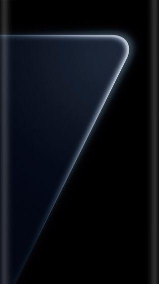 Обои на телефон black pearl, edge style, galaxy s7 design, абстрактные, черные, галактика, дизайн, грани, стиль, официальные, жемчужина