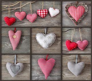 Обои на телефон коллаж, ткани, сердце, романтика, любовь, валентинка, love