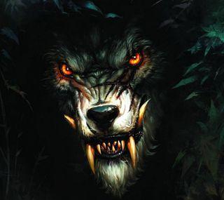 Обои на телефон темные, волк, арт, dark wolf, art