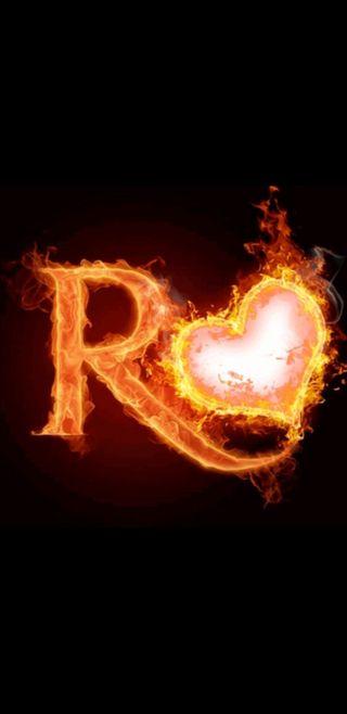 Обои на телефон буквы, сердце, огонь, любовь, r letter