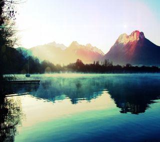 Обои на телефон озеро, природа, пейзаж, горы, mountain lake nature