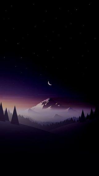 Обои на телефон dar, land, небо, ночь, звезды, горы, рок, пейзаж, родной