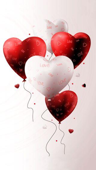 Обои на телефон шары, сердце, воздушный шар