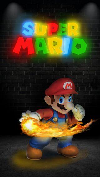 Обои на телефон эффект, цветные, супер, светящиеся, огонь, нинтендо, неоновые, мультики, марио, луиджи, красые, буквы, nintendo, neon colors, mario and luigi, glow effect