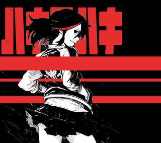 Обои на телефон черные, симпатичные, манга, красые, девушки, аниме, ryuko klk, killlakill, kill