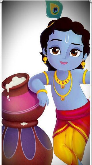 Обои на телефон кришна, милые, лил, изображение, бог, lil krishna, cute image