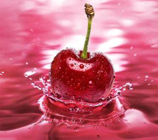 Обои на телефон красые, розовые, вода, брызги, фрукты, вишня