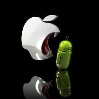 Обои на телефон эпл, новый, комедия, андроид, айпад, hd, apple eats android