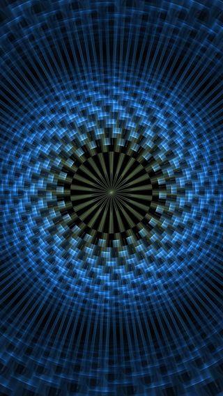 Обои на телефон круги, синие, абстрактные
