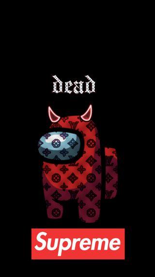 Обои на телефон мертвый, игровые, лучшие, красые, дьявол, в тренде, амонг, supreme, impostor, among us supreme
