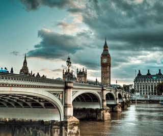 Обои на телефон ben, big, westminster bridge, город, мост, англия, лондон