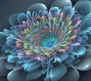 Обои на телефон 2160x1920, abstract flower, абстрактные, цветы
