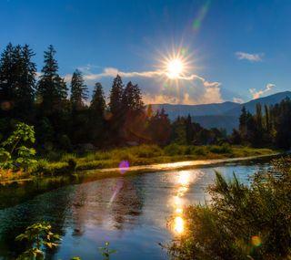 Обои на телефон солнечный свет, природа, hd