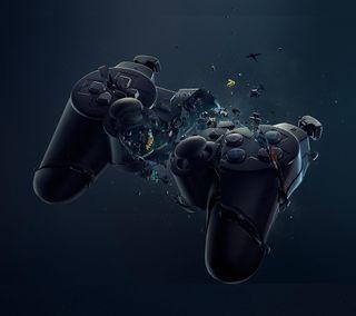Обои на телефон сони, сломанный, sony, playstation, joystick, gamepad, broken gamepad