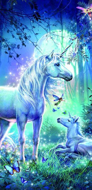 Обои на телефон сказочные, единорог, природа, unicorn utopia