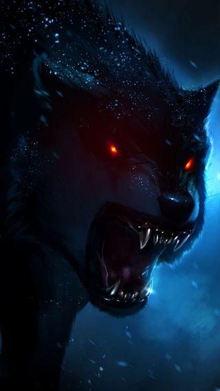 Обои на телефон 2016, волк, злые