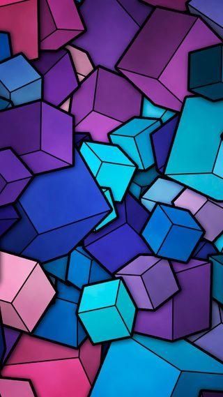 Обои на телефон кубы, цветные, абстрактные, abstract cubes