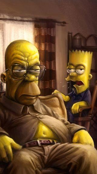 Обои на телефон гомер, симпсоны, homer realist