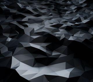 Обои на телефон многоугольник, черные, фон, арт, абстрактные, hd, art, 3д, 3d
