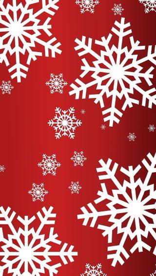 Обои на телефон снежинки, снег, рождество