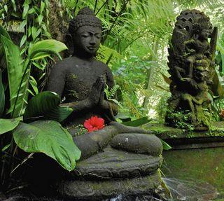 Обои на телефон индонезия, будда, ubud, bali