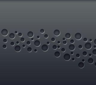 Обои на телефон круги, шаблон, черные, абстрактные