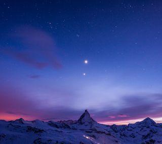 Обои на телефон естественные, синие, небо, звезда