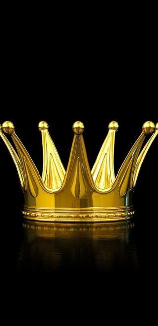 Обои на телефон корона, черные, король, королева, золотые