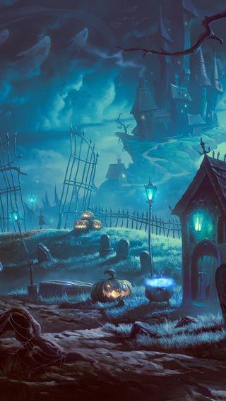 Обои на телефон cemetery, темные, череп, хэллоуин, зло