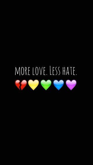 Обои на телефон ненависть, сердце, радуга, прайд, любовь, more love less hate, love