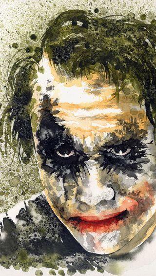Обои на телефон картина, цветные, персонажи, джокер, бэтмен