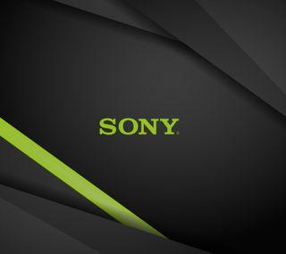Обои на телефон темные, сони, зеленые, sony, bg