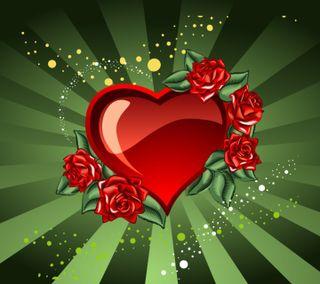 Обои на телефон love, valentines day heart, любовь, сердце, розы, рисунки, день, валентинки