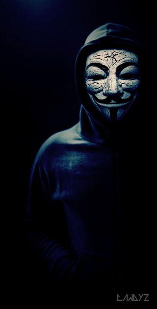Обои на телефон хакер, тени, темные, стиль, маска, взлом, in the shadows, anynomus