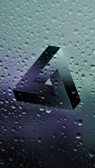 Обои на телефон 3d, hd, possibly impossible, крутые, 3д, дождь, капли, треугольник, чистые, мягкие, невозможно