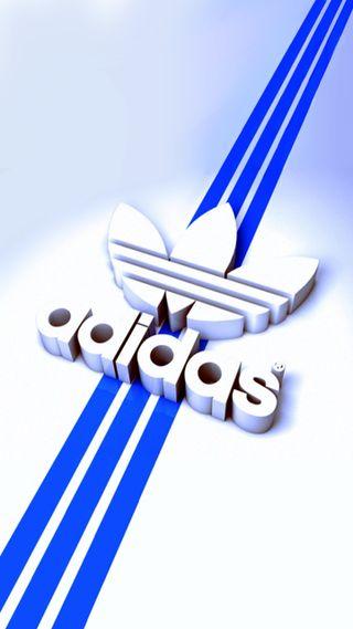 Обои на телефон адидас, синие, логотипы, лейблы, бренды, adidas blue, adidas