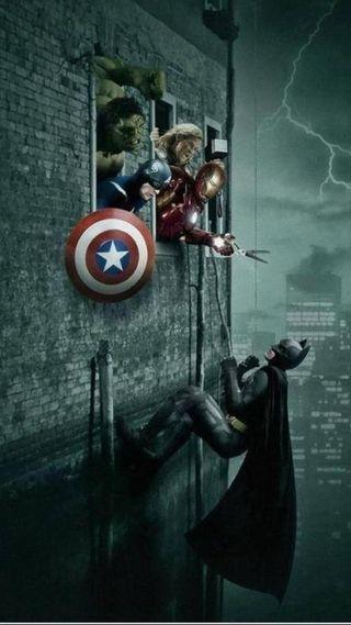 Обои на телефон против, мстители, бэтмен, bvd, avengers vs batman