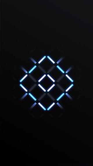 Обои на телефон черные, темные, синие, неоновые, геометрические, абстрактные, halo, hd, 929, 4k