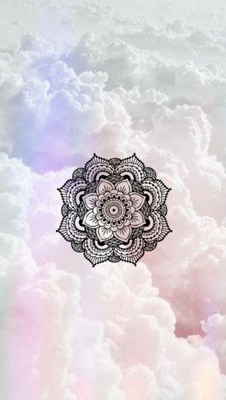 Обои на телефон мандала, симпатичные, розовые, облака, mandala in clouds