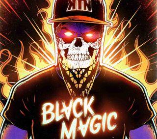 Обои на телефон черные, обложка, магия, арт, noise, kill the noise, kill, black magic cover, black magic, art