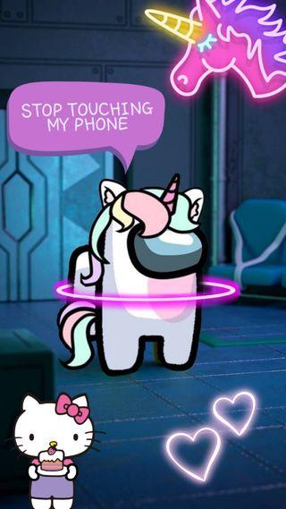 Обои на телефон розовые, пони, единорог, вселенная, амонг, among us unicorn
