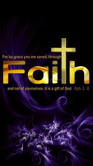 Обои на телефон вера, библия, христианские, grace through faith