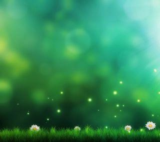 Обои на телефон трава, цветы, векторные, арт, vector art