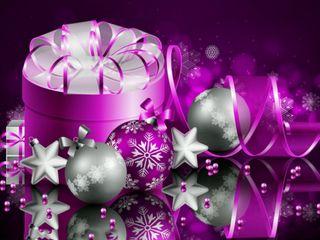 Обои на телефон подарок, фиолетовые, счастливое, рождество, christmas gift