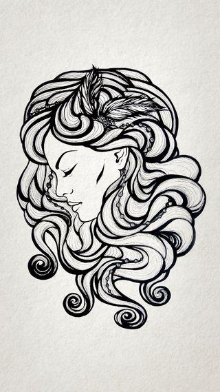 Обои на телефон панк, чернила, хипстер, татуировки, тату, крутые, женщина, дизайн, арт, zedgetat1, cool woman tattoo, art